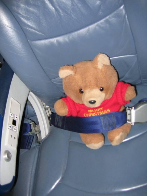 Hannawa en avion