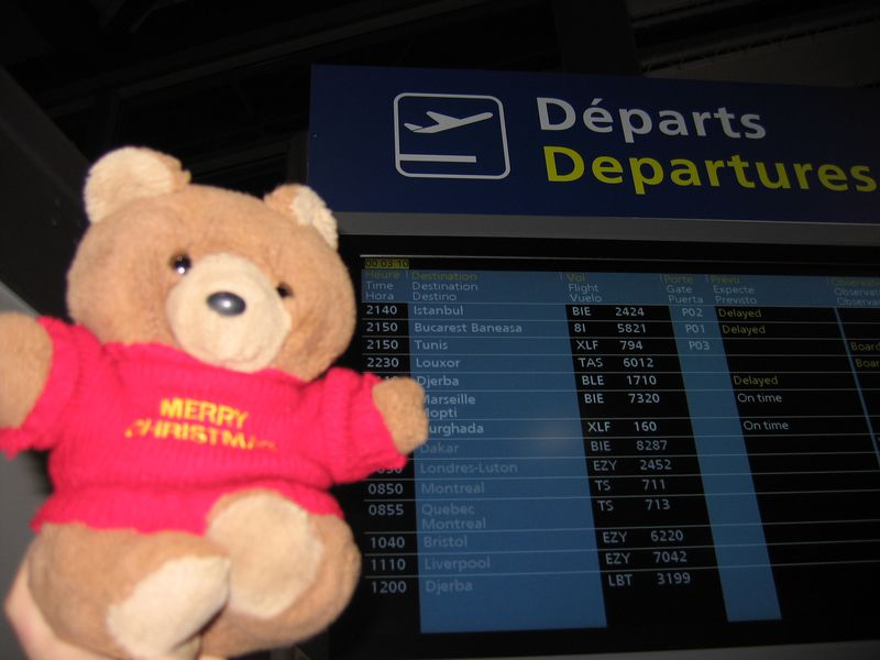 Hannawa en Roumanie - avion en retard